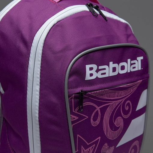 babolat junior club detská tenisová taška fialová bok