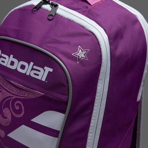 babolat junior club detská tenisová taška fialová vrchná časť