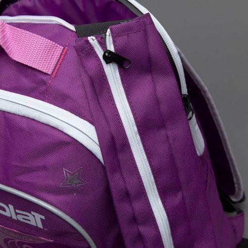 babolat junior club detská tenisová taška fialová detail s boku